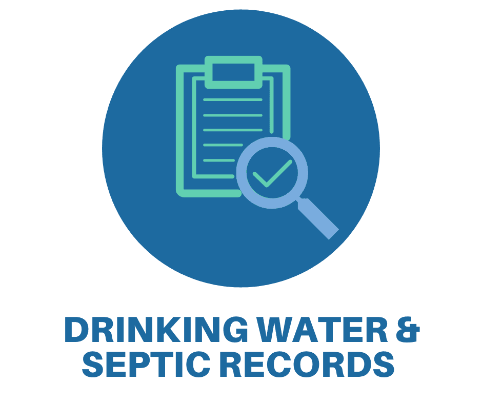 link to find drinking and septic records